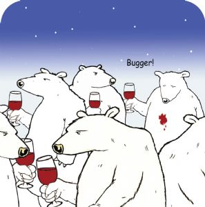 Bugger Bear Funny Table Coaster